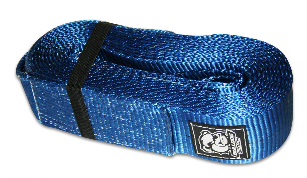 Bulldog Winch 20031 Recovery Strap 4 Inch x 30 Ft 40 000 LB BS Polyester Blue