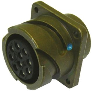 Glenair Connector, 5 contacts Panel Mount Socket, Crimp IP67