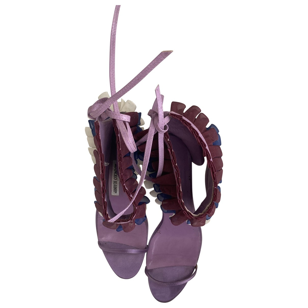 Manolo Blahnik \N Cloth Heels for Women 37 EU