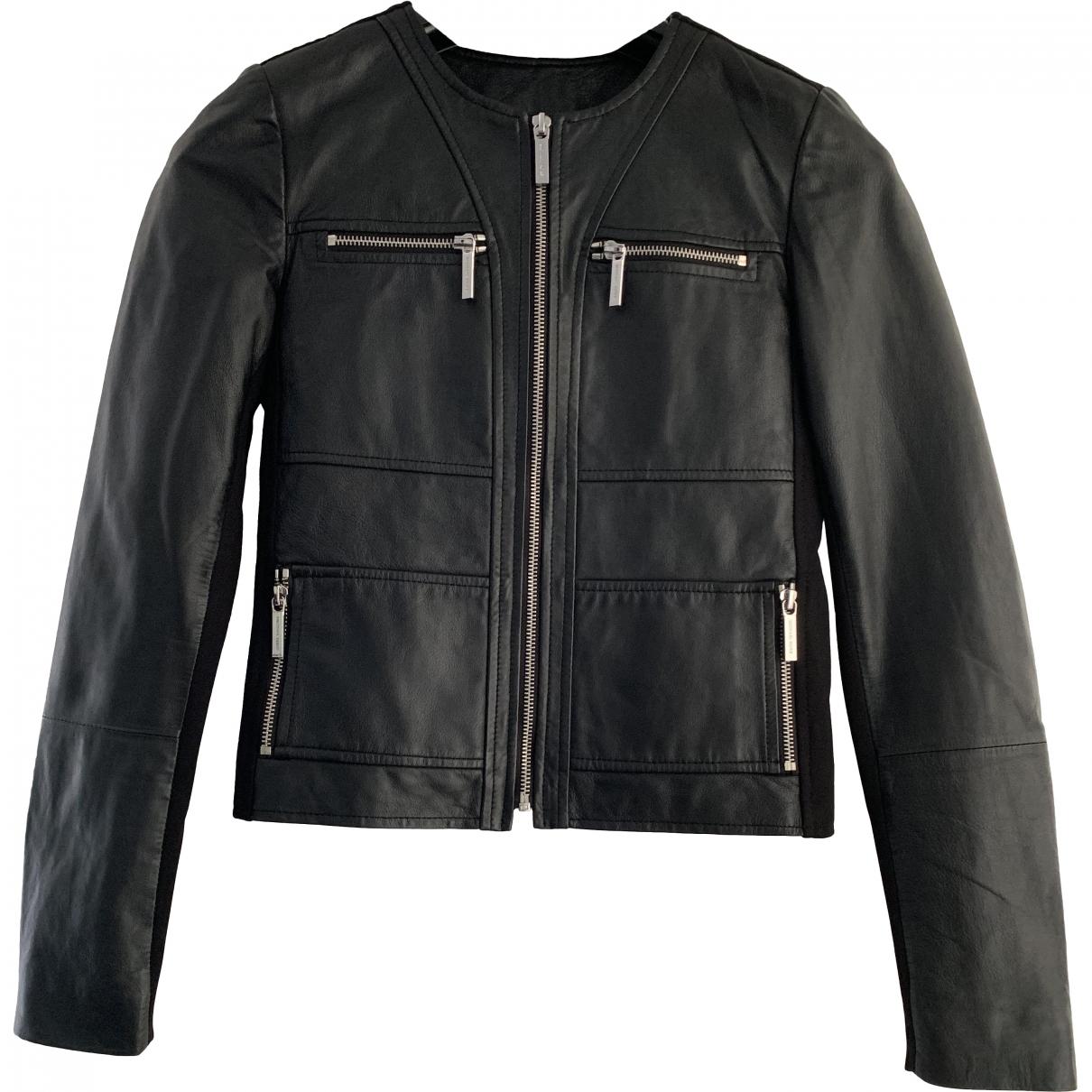 Michael Kors \N Black Leather jacket for Women XS International