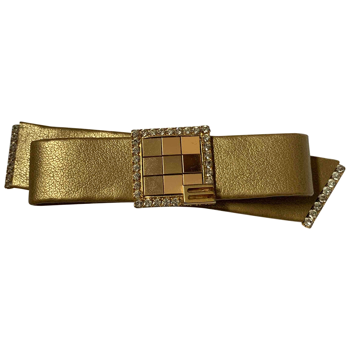 Etro \N Gold Leather Hair accessories for Women \N