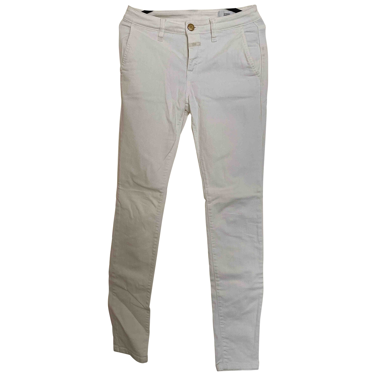 Closed \N White Cotton - elasthane Jeans for Women 24 US