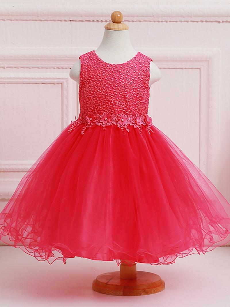 Ericdress Sequins Lace Sleeveless Girl Tutu Dress