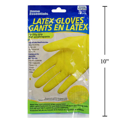 Reusable Dishwashing Latex Household Kitchen Gloves for Cleaning, Size XL 1 Pair