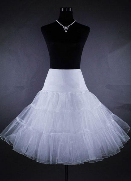 Milanoo Short Wedding Petticoat Tulle 3 Tiers Netting Ivory Bridal Skirt Slip