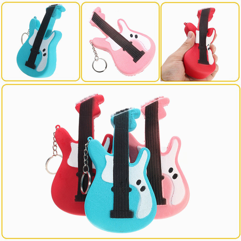 Guitar Squishy Slow Rising Toy Squishy Tag Soft Cute Collection Gift Decor Toy