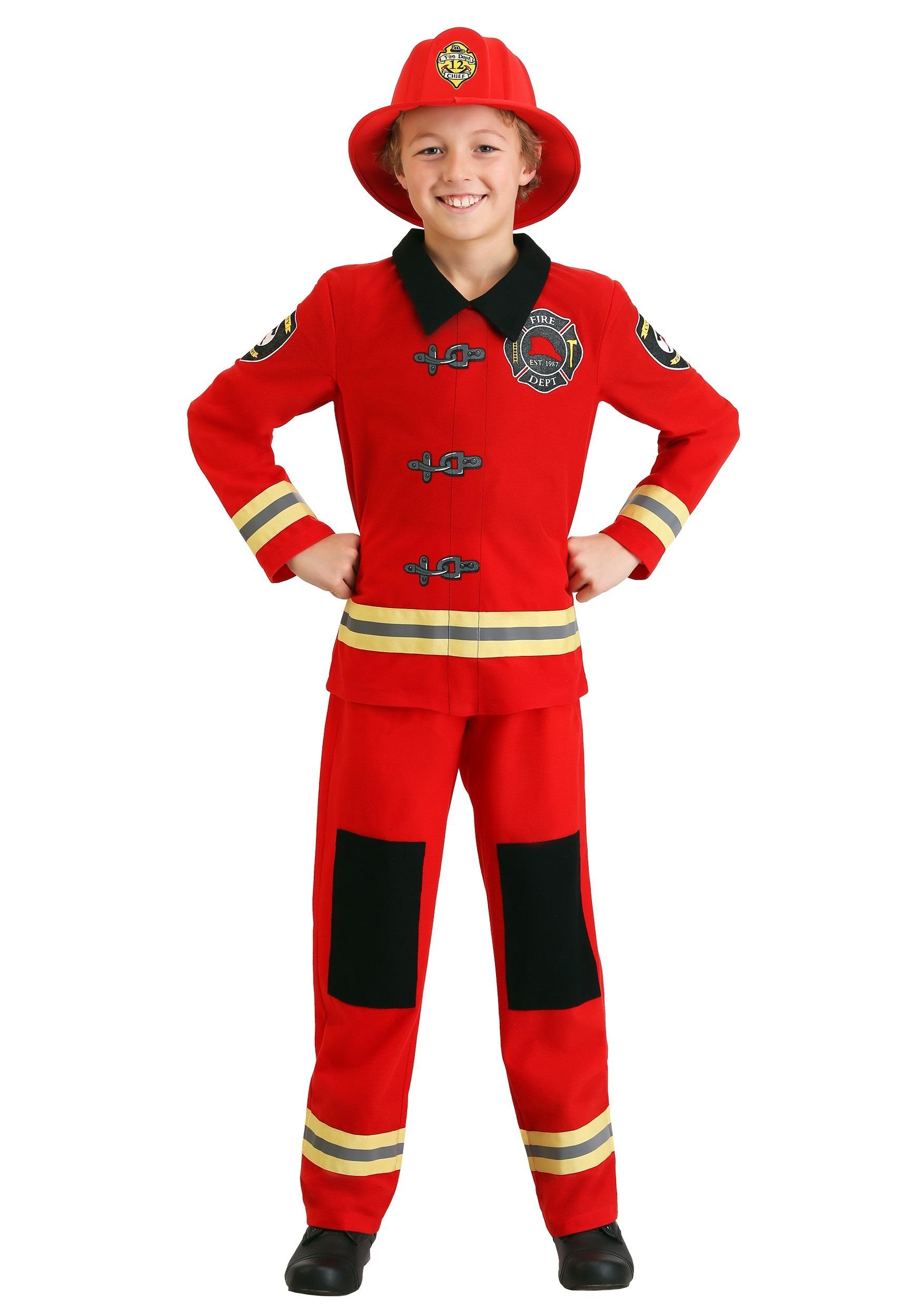 Friendly Firefighter Costume for Kids