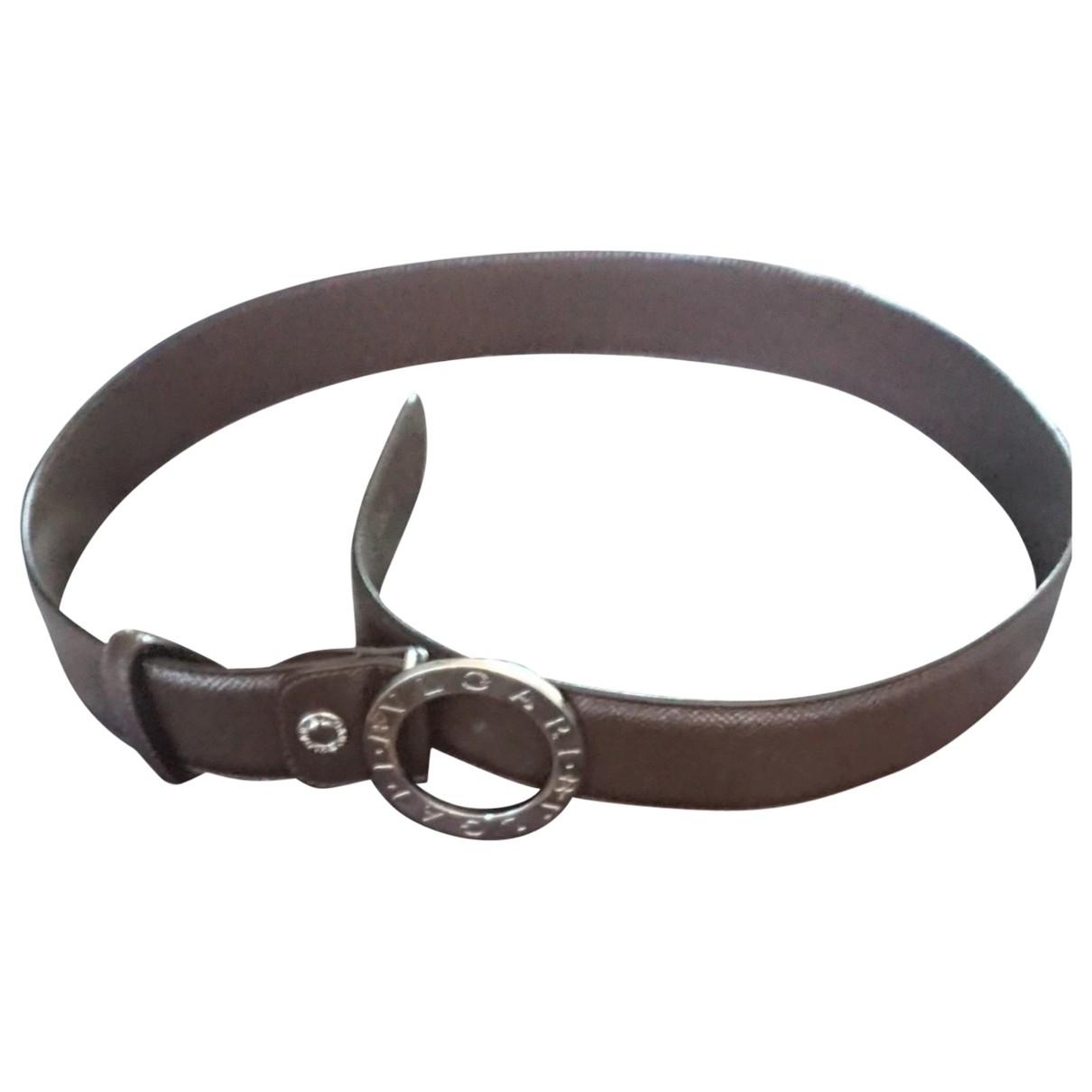 Bvlgari \N Brown Leather belt for Men 90 cm