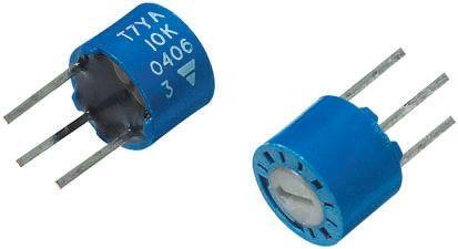 Vishay 220kΩ, Through Hole Trimmer Potentiometer 0.28W Top Adjust , T7 (5)