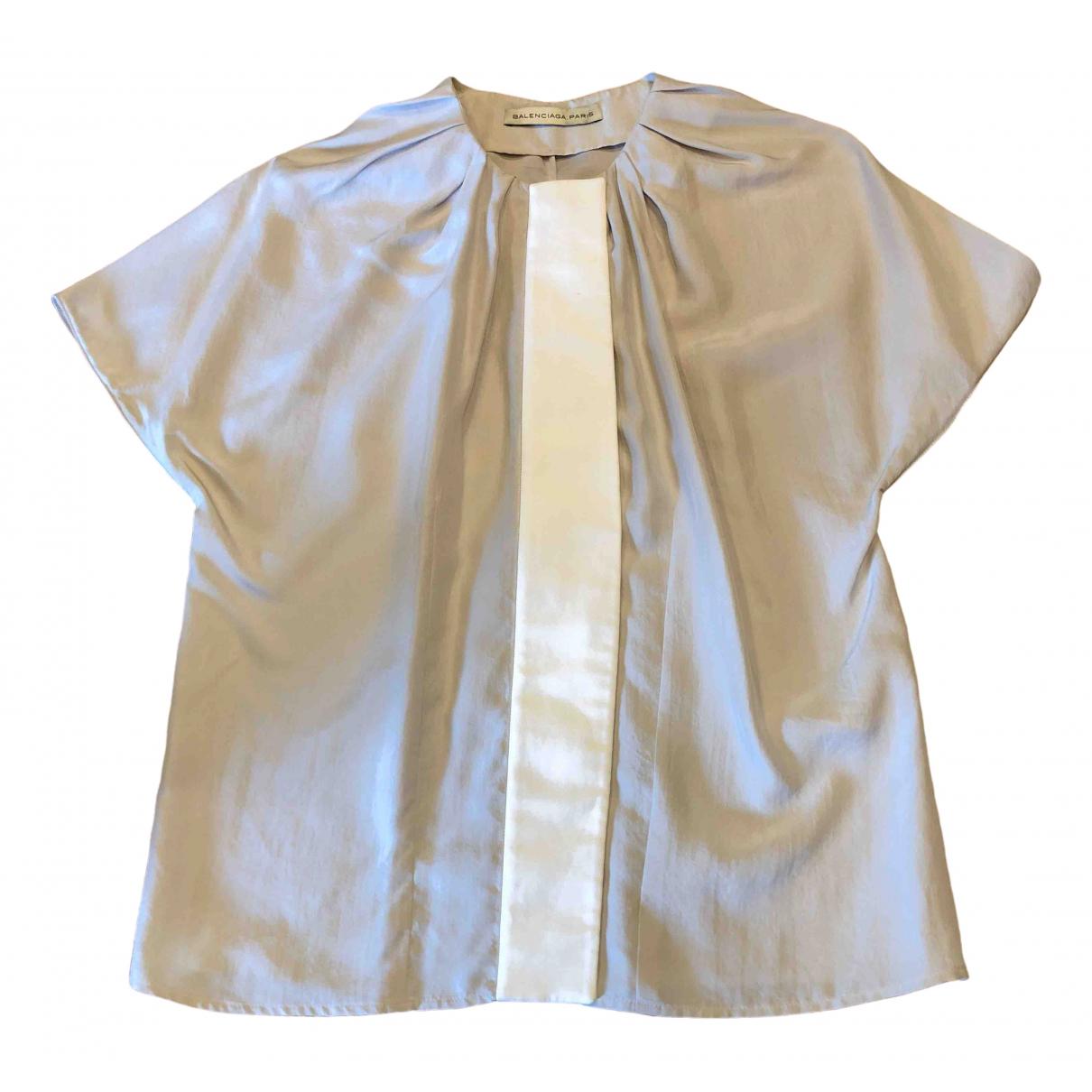 Balenciaga \N Beige Silk  top for Women 38 FR