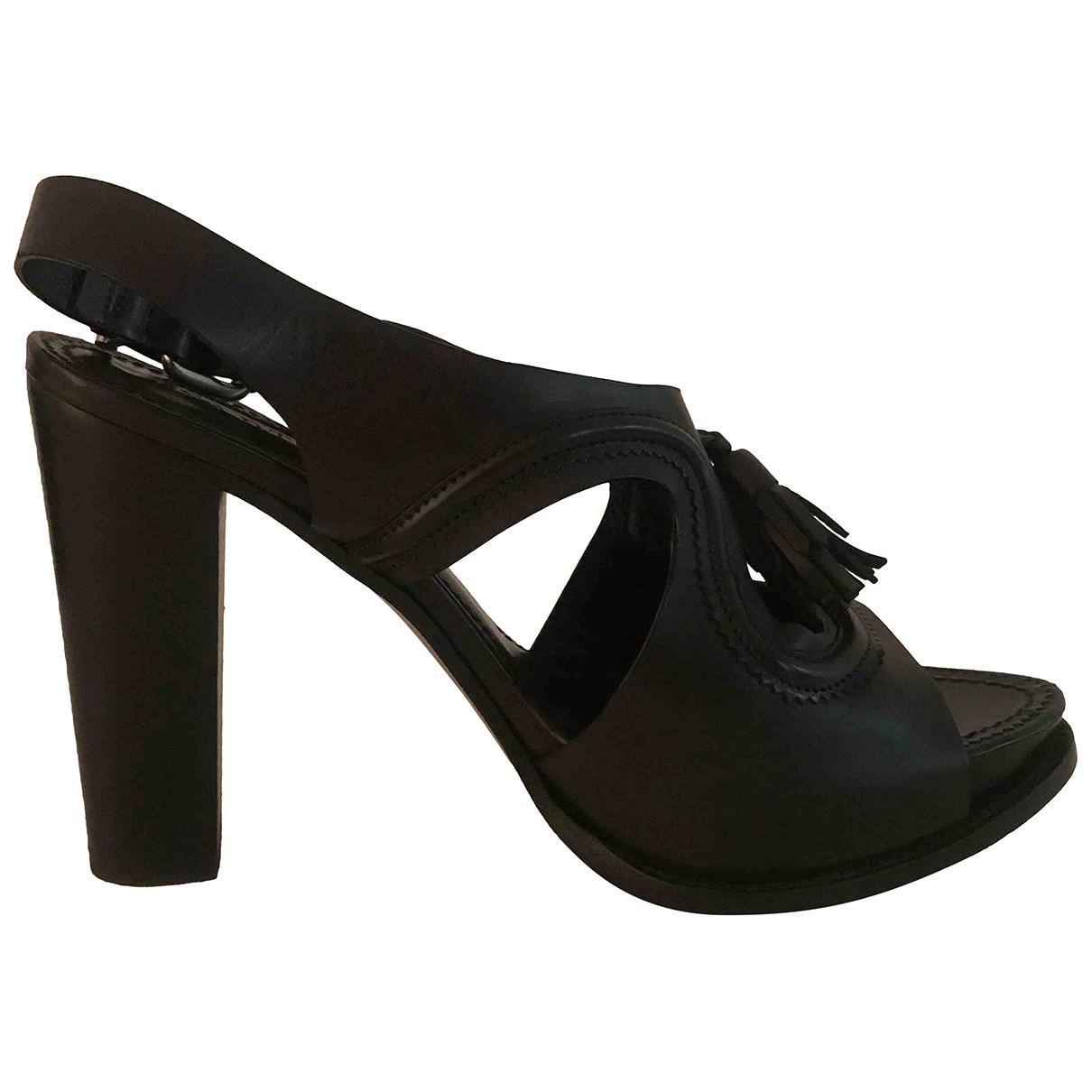 Sartore \N Black Leather Sandals for Women 37 EU