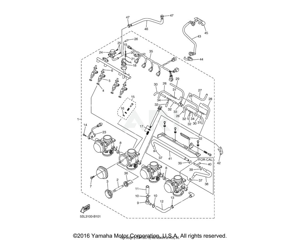 Yamaha OEM 5SL-24411-00-00 DIAPHRAGM