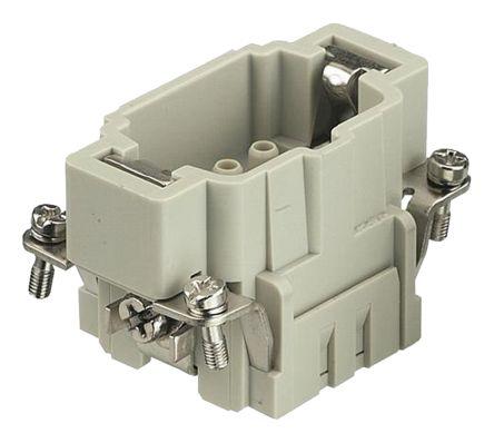 HARTING Han E HMC Series size 6 E Connector Insert, Male, 6 Way, 16A, 500 V