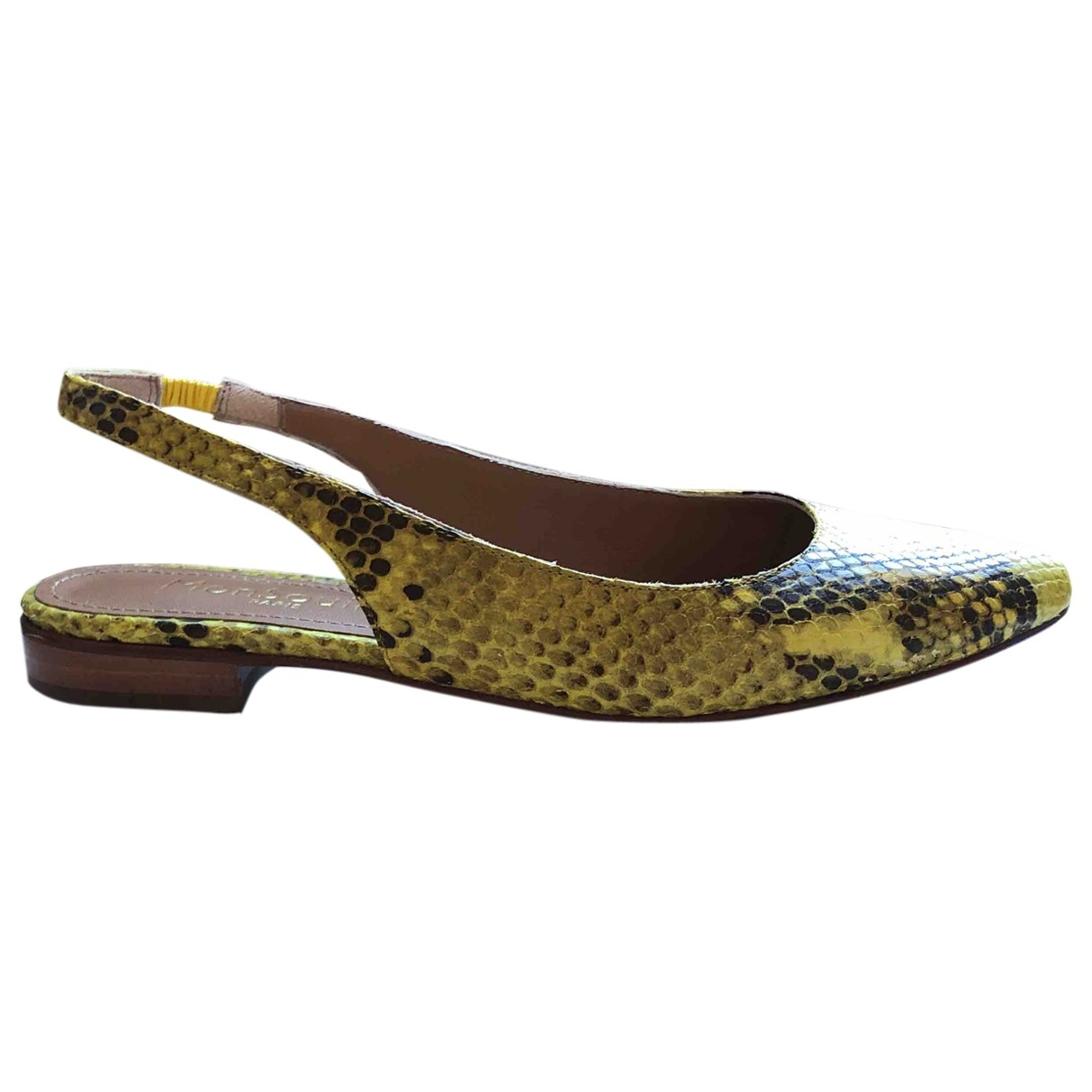 Non Signé / Unsigned \N Yellow Leather Ballet flats for Women 36 EU
