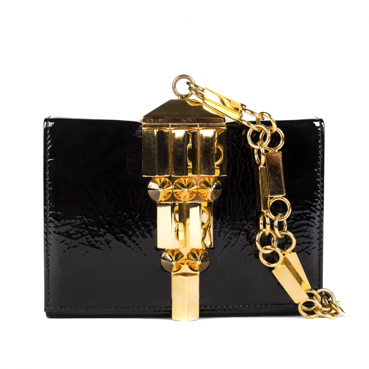 Giuseppe Zanotti \N Black Patent leather Clutch bag for Women \N