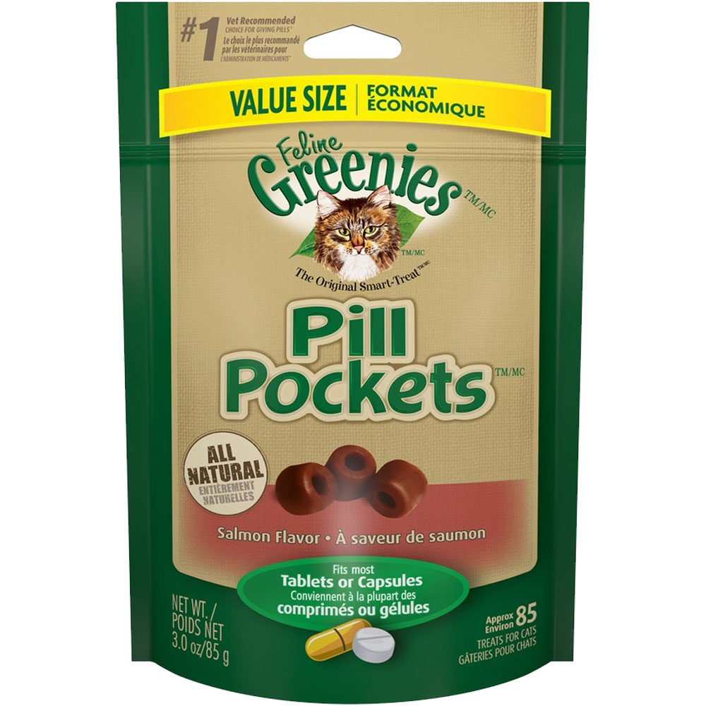 Greenies Pill Pockets Value Size - Salmon Flavor 3 oz (85 count)