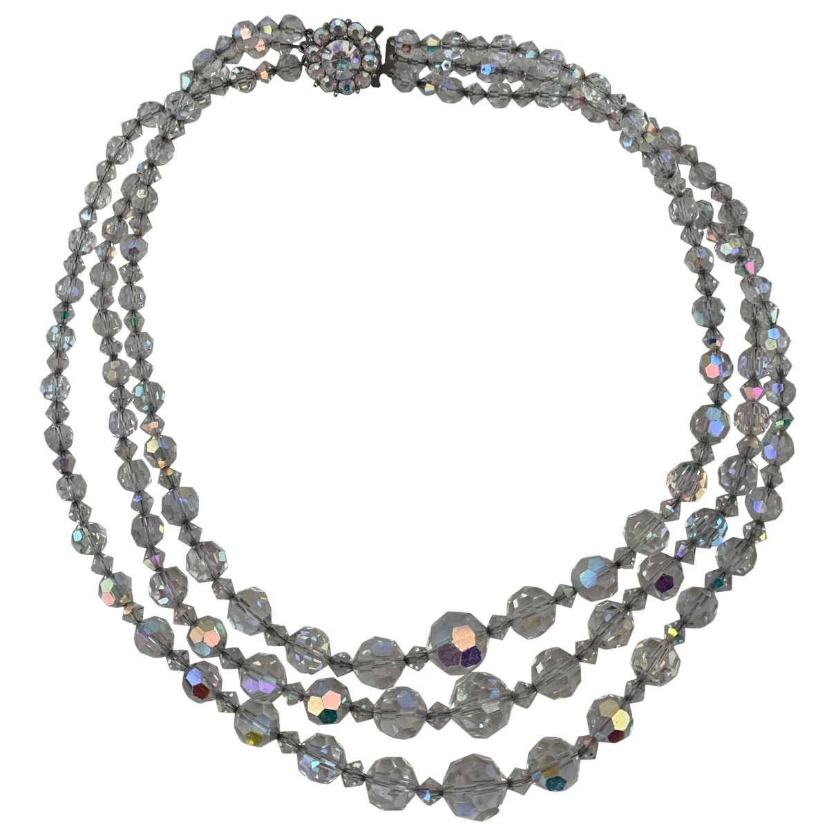 Non Signé / Unsigned \N White Crystal necklace for Women \N