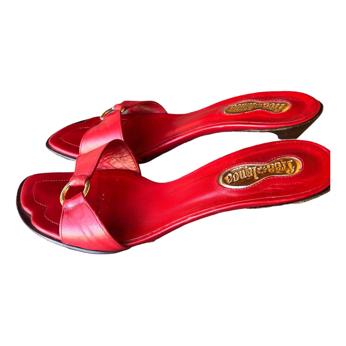 Free Lance \N Red Leather Sandals for Women 37 EU