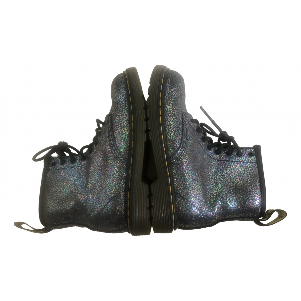 Dr. Martens \N Metallic Leather Boots for Kids 27 FR