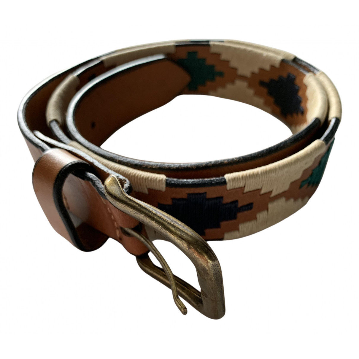 Non Signé / Unsigned \N Camel Leather belt for Women 90 cm