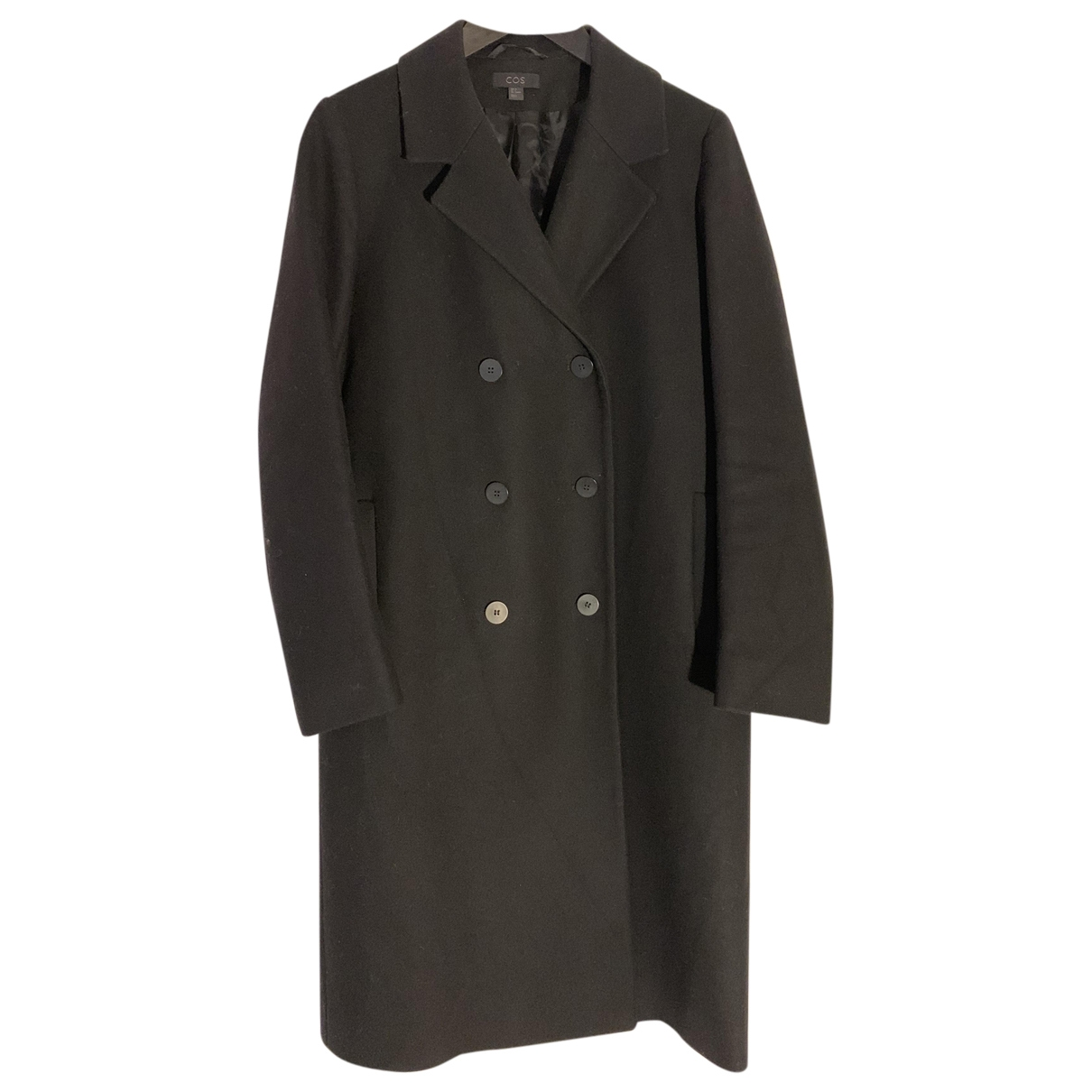 Cos \N Black Wool coat for Women 6 US