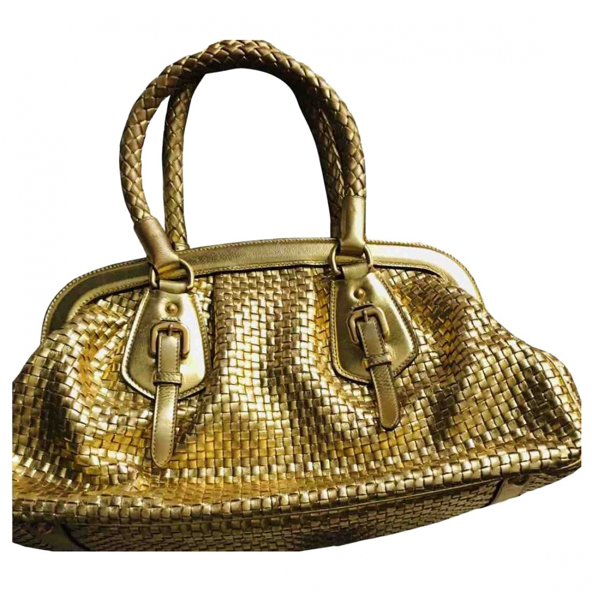 Prada \N Gold Leather handbag for Women \N