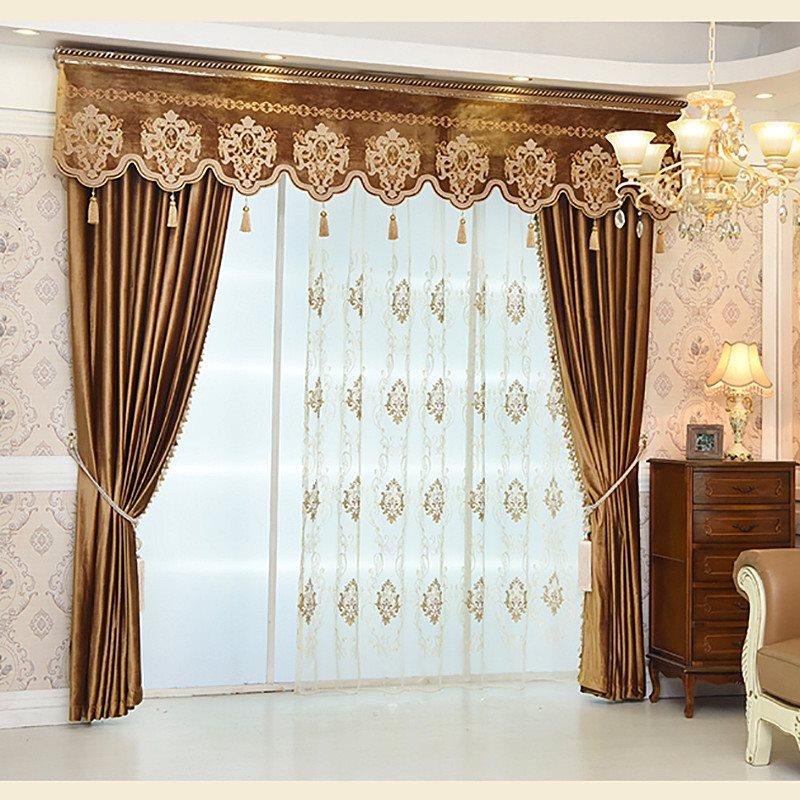 European Luxury and Elegant Decorative Custom Sheer Curtains for Living Room Bedroom