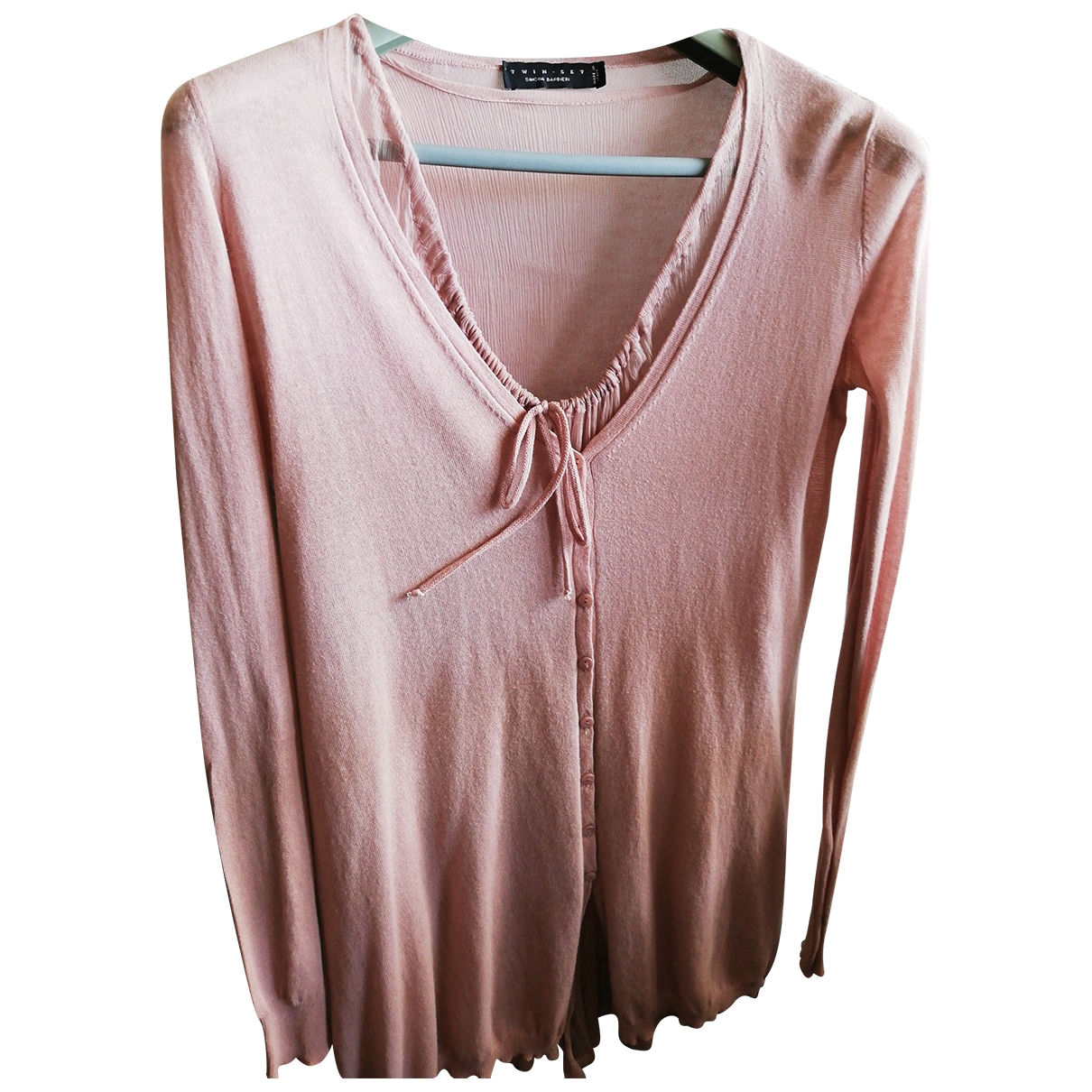 Twin Set \N Pink Cotton  top for Women 44 IT