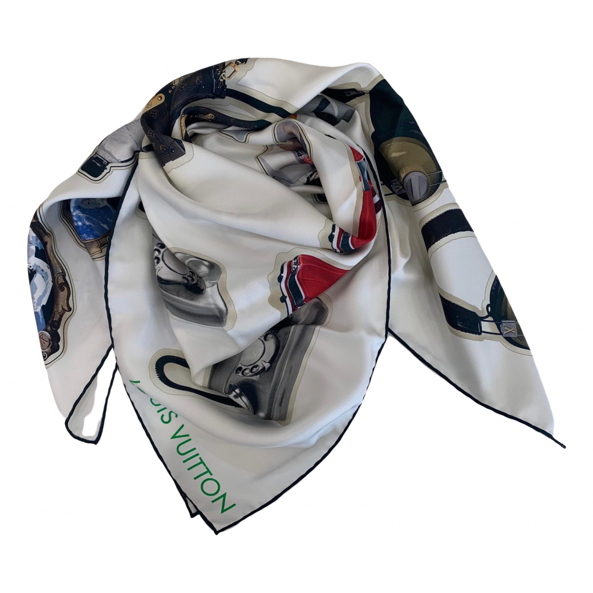 Louis Vuitton \N White Silk scarf for Women \N