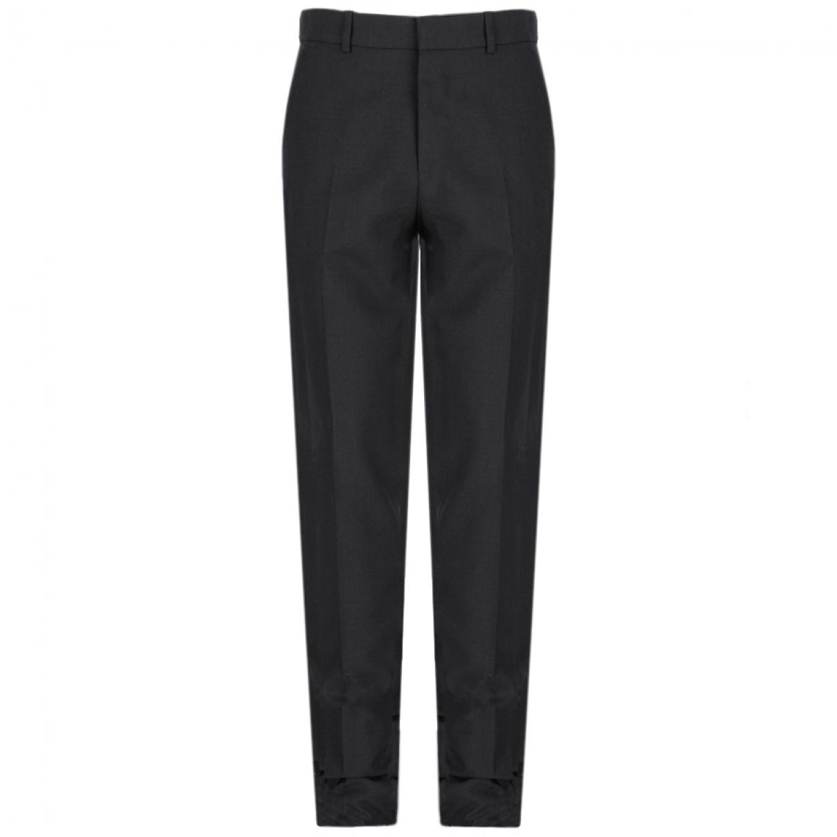 Alexander Mcqueen \N Black Wool Trousers for Men 46 IT
