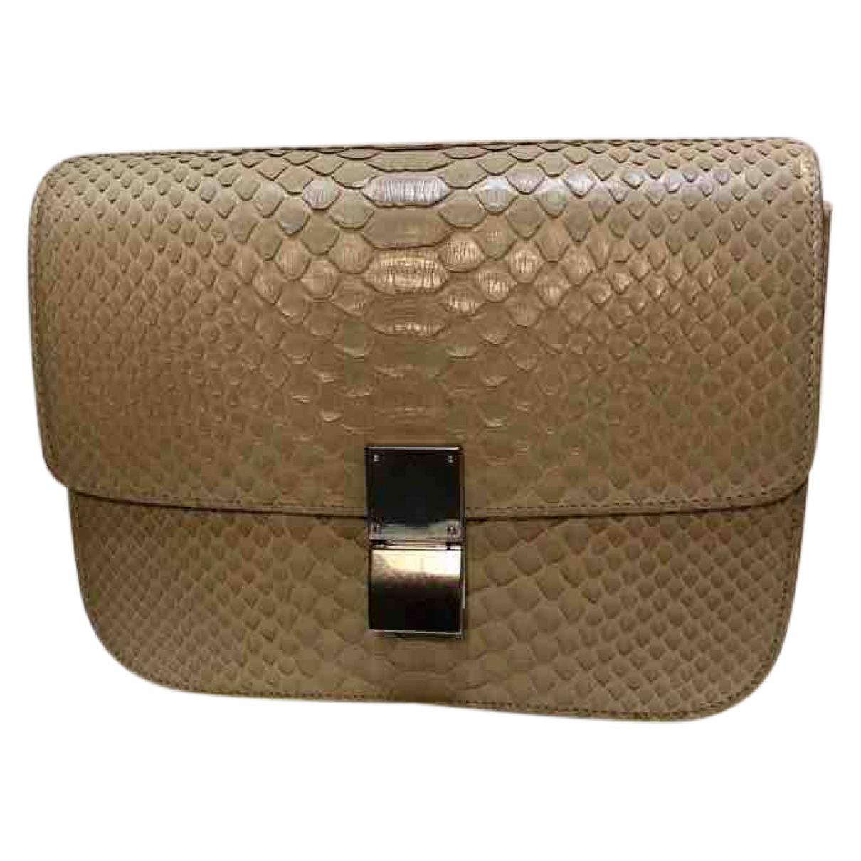 Celine Classic Beige Python handbag for Women \N