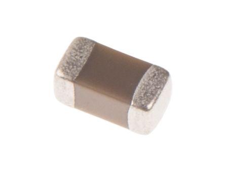 Murata , 0603 (1608M) 100nF Multilayer Ceramic Capacitor MLCC 50V dc ±10% , SMD GCM188L81H104KA57D (100)