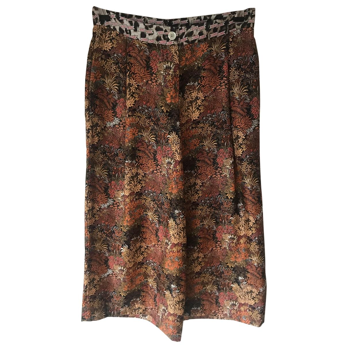 La Prestic Ouiston \N Multicolour Silk Trousers for Women 1 0-5