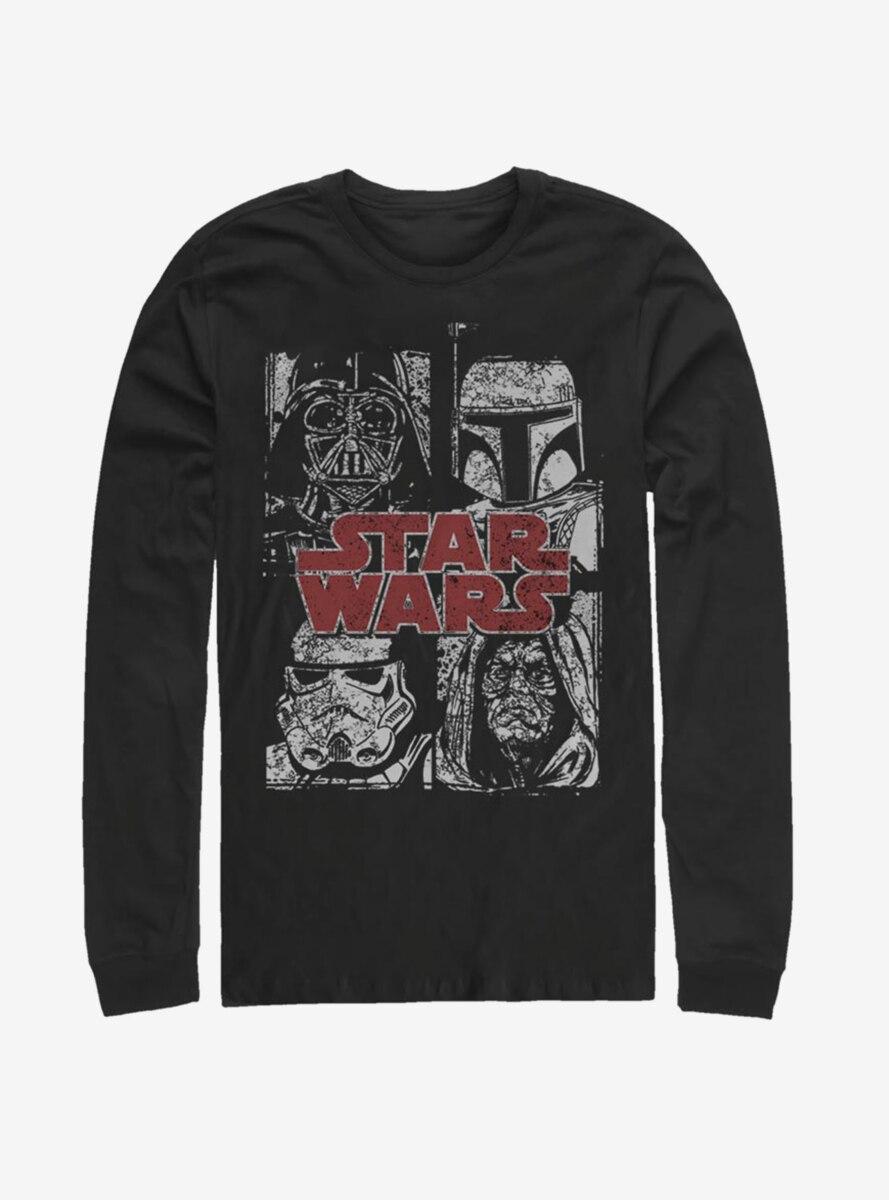 Star Wars Villain Stack Long-Sleeve T-Shirt