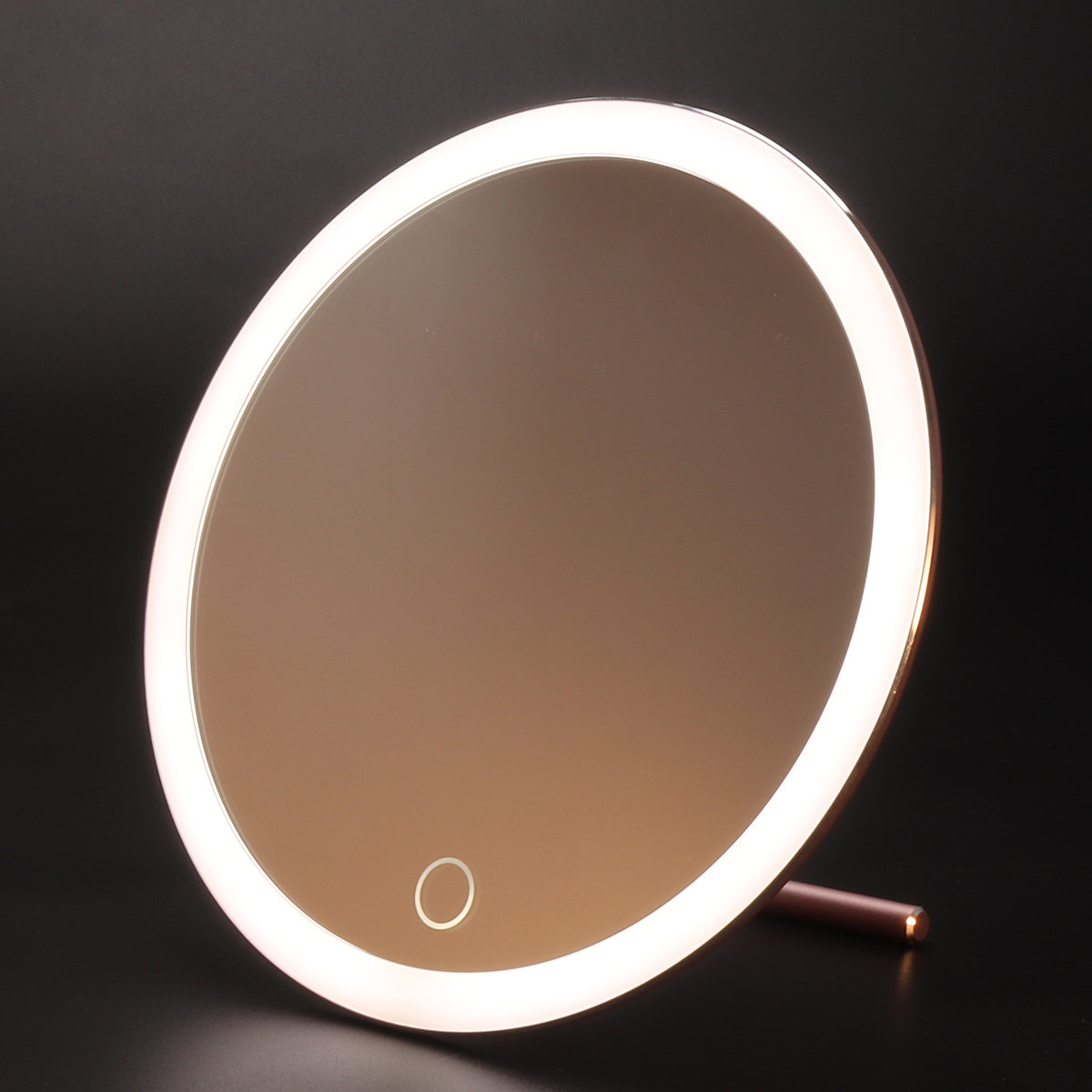 USB LED Light Makeup Mirror Touch Screen Portable Magnifying Vanity Tabletop Lamp Cosmetic Mirrors
