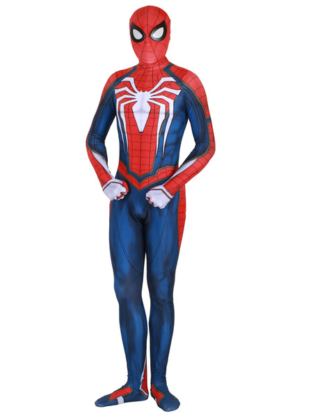Milanoo Marvel Comics Spider Man Cosplay Red Film Lycra Spandex Jumpsuit Leotard Marvel Comics Cosplay Costume
