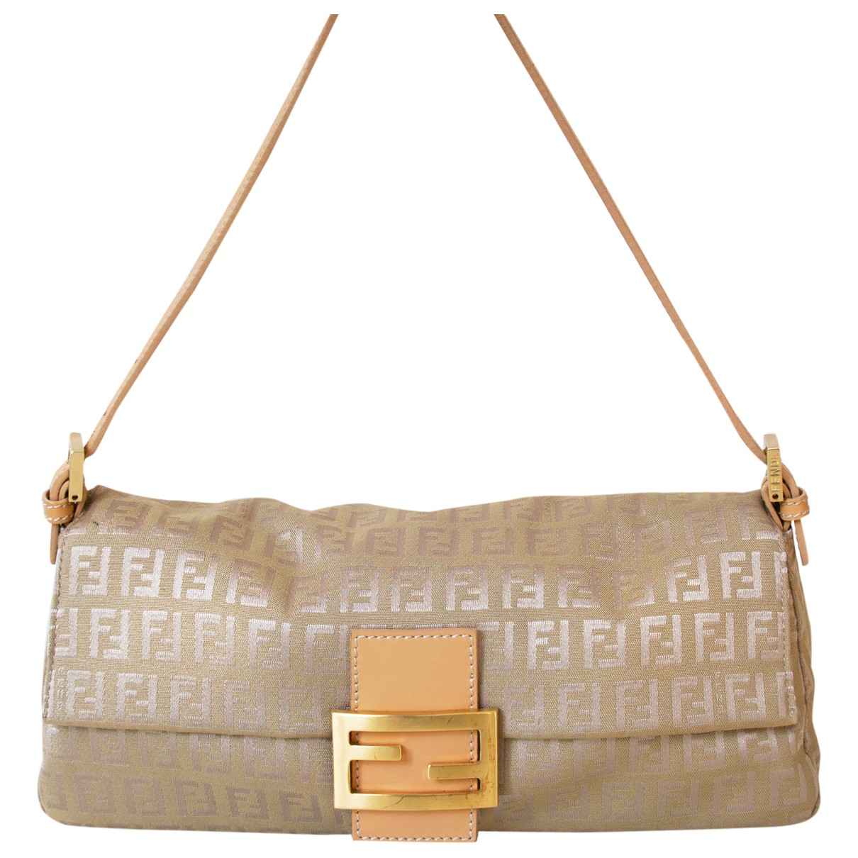 Fendi Baguette Beige Cloth handbag for Women \N