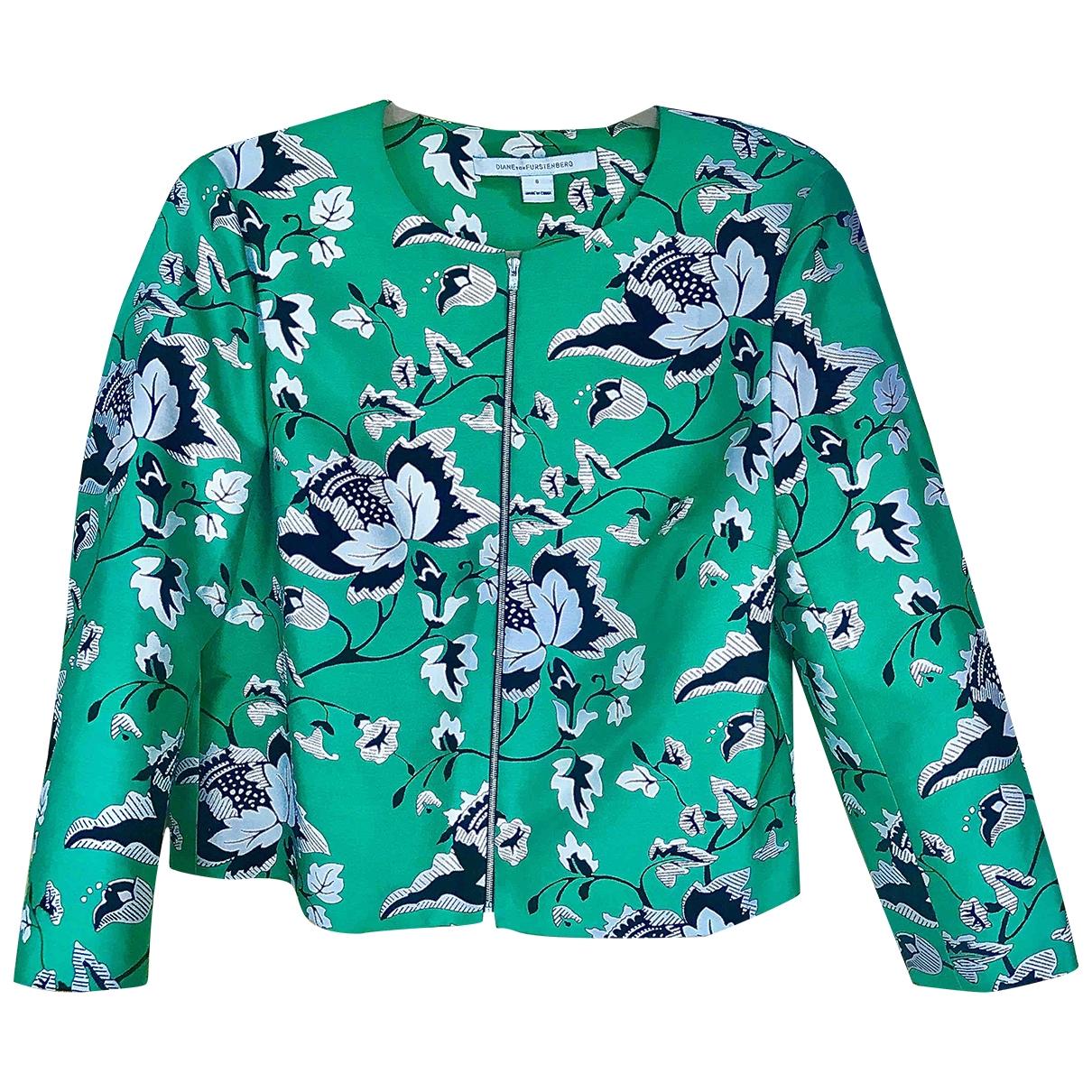 Diane Von Furstenberg \N Green Silk jacket for Women 8 US