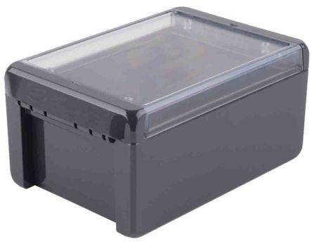 Bopla Bocube, Graphite Grey Polycarbonate Enclosure, IP66, IP68, Flanged, 191 x 125 x 90mm