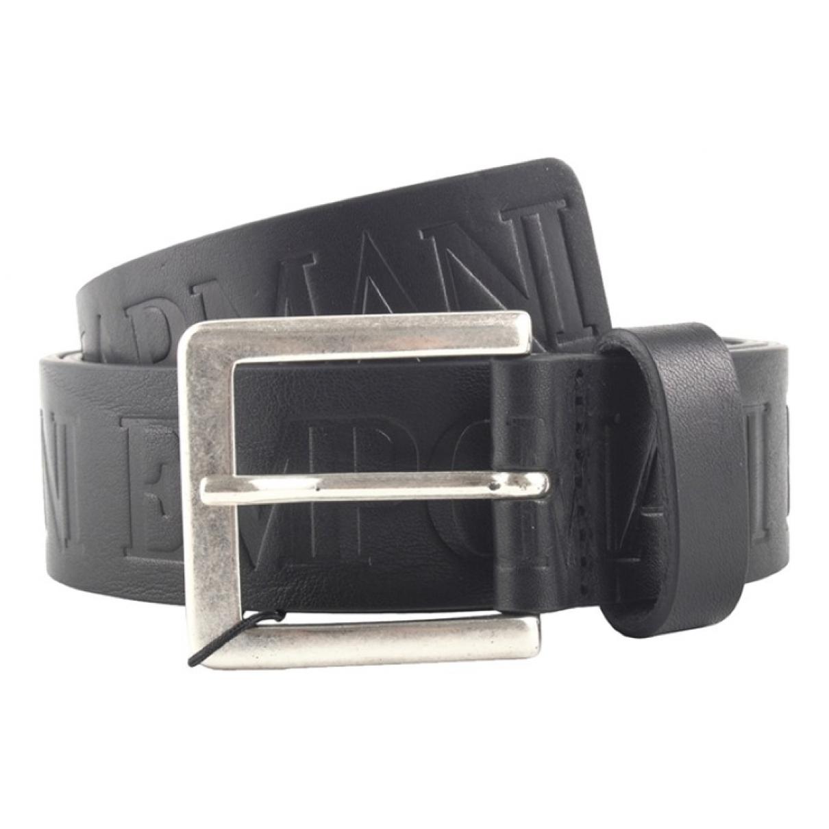 Emporio Armani \N Black Leather belt for Men 90 cm