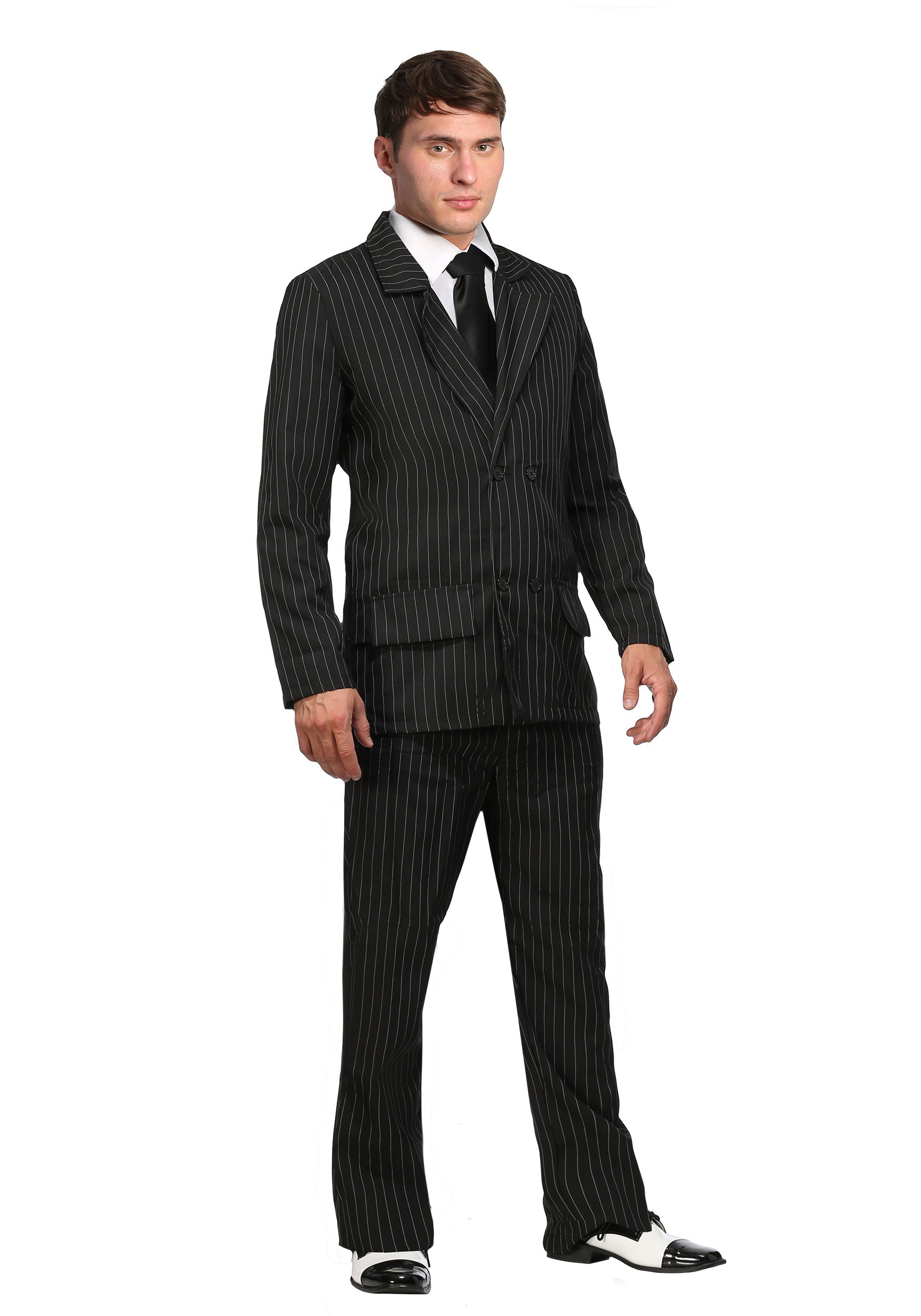 Deluxe Gangster Plus Size Costume for Men | Mobster Costume