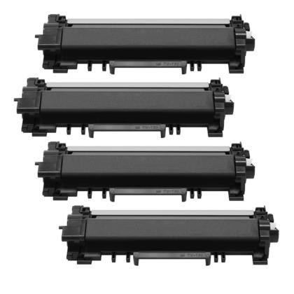 Compatible Brother TN760 Black Toner Cartridge High Yield - No Chip - Economical Box - 4/Pack