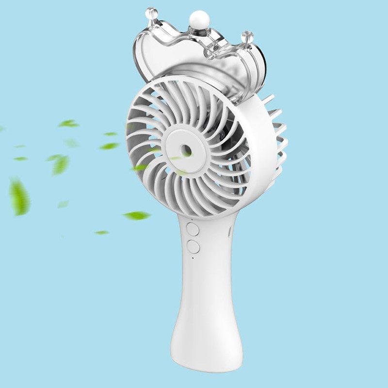 Transparent Crown Portable Nano Hydrating Mini Electric Fan