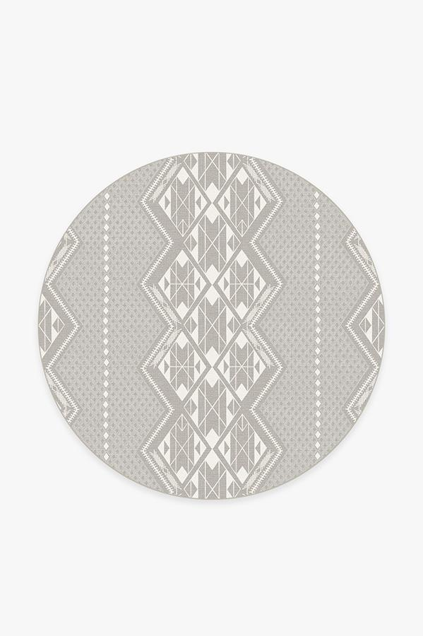Washable Rug Cover & Pad | Halona Stone Rug | Stain-Resistant | Ruggable | 6' Round