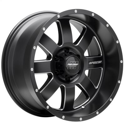 Pro Comp 73 Series Trilogy, 17x9 Wheel with 6x5.5 Bolt Pattern - Satin Black Milled - 5173-7983