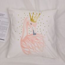 Flamingo Print Cushion Cover Without Filler