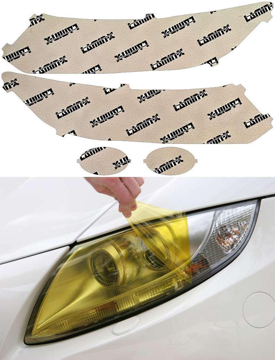 Honda Civic Sedan 13-15 Yellow Headlight Covers Lamin-X H053Y