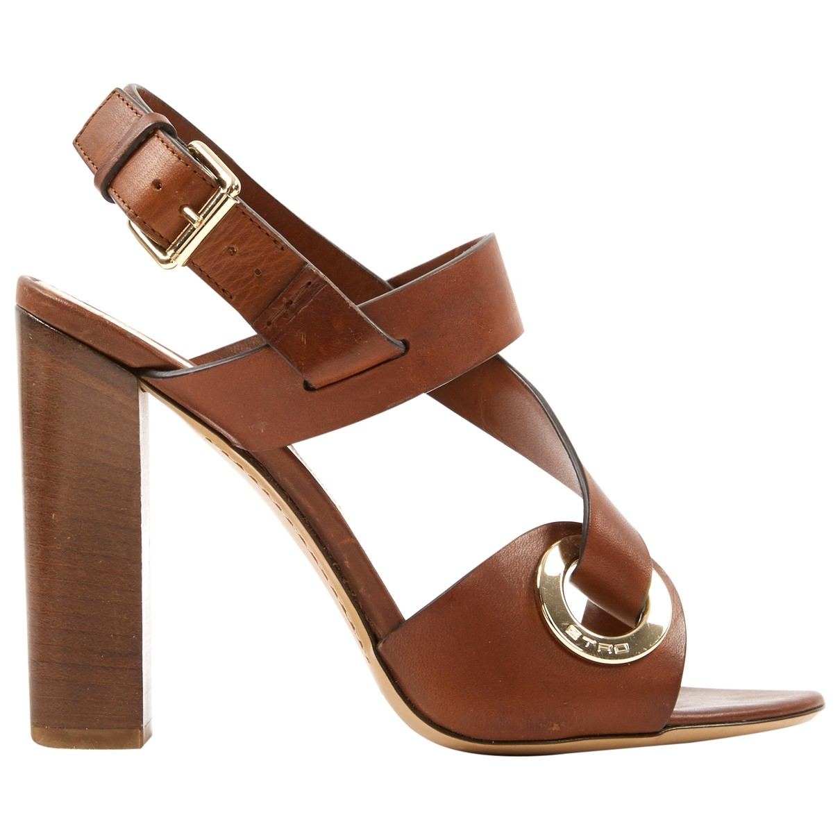 Etro \N Brown Leather Sandals for Women 38 EU