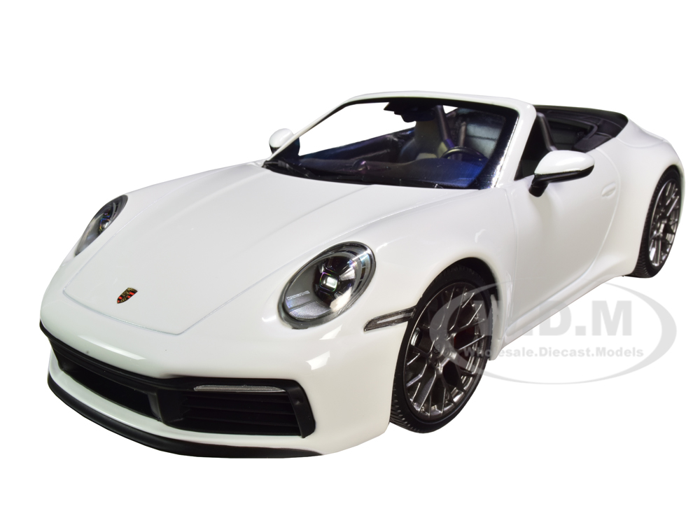 2019 Porsche 911 Carrera 4S Cabriolet White Limited Edition to 504 pieces Worldwide 1/18 Diecast Model Car by Minichamps