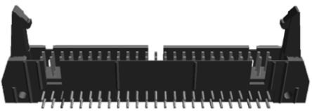 TE Connectivity , AMP-LATCH, 50 Way, 2 Row, Right Angle PCB Header